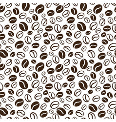 seamless pattern with handrawn coffee beans vector image vector image