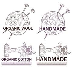 Set of knitting and sewing logos vector