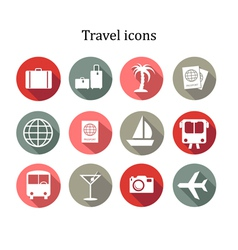 Set of travel icons vector image vector image