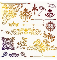 spring design elements vector image vector image