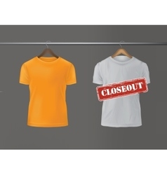 T-shirts hanging on hanger vector image