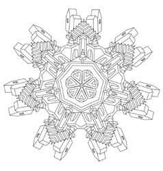 Zen art outline city vector