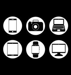 Technology gadgets vector