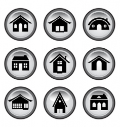 home buttons set vector image