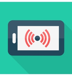 Smartphone flat design wireless icon vector