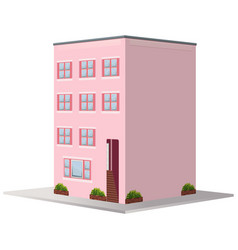 3d design for building painted in pink vector