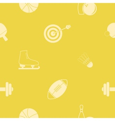Seamless background with sport icons vector