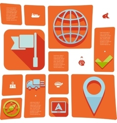 Navigation flat infographic vector