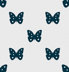 Butterfly sign icon insect symbol seamless vector