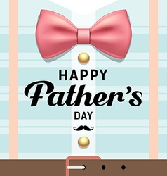Happy fathers day pink ribbons with blue shirt vector