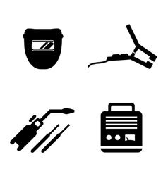 Welding equipment set vector