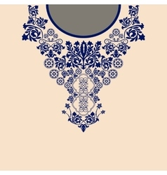Paisley decorative border vector