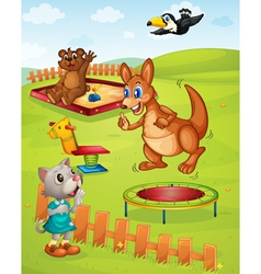 Animal playground vector