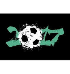 Abstract number 2017 and soccer ball vector image vector image