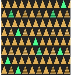 Abstract seamless pattern with triangles in bright vector image vector image