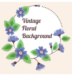 Background with round floral banner vintage vector image vector image