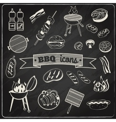 Barbecue chalkboard set vector
