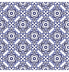 Blue pattern seamless 1 vector