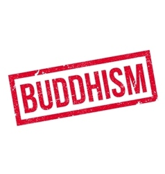 Buddhism rubber stamp vector image