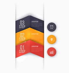 Business project template with arrows vector