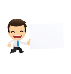 cartoon office worker vector image vector image