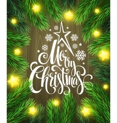 Christmas poster design template vector image vector image