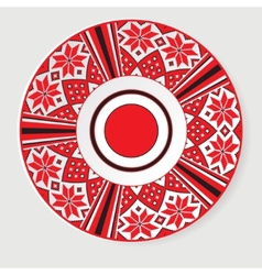 Circular ethnic oranament vector