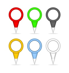 Colorful pointers for the map vector image vector image
