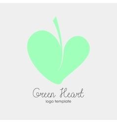 Conceptual Leaf Heart Logo vector image vector image