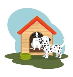 cute dog isolated icon vector image vector image