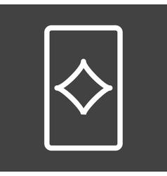 Diamonds Card vector image