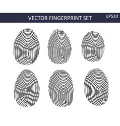 Fingerprints set vector image