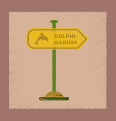 flat shading style icon dolphinarium sign vector image
