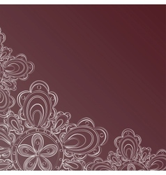 Frame with lace floral pattern vector image vector image