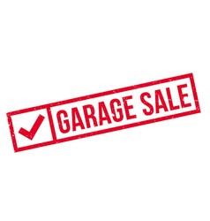 garage sale rubber stamp vector image