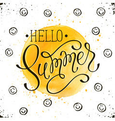 helo summer card vector image vector image
