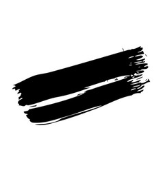 Ink brush stroke grunge hand painted vector