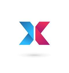 Letter x logo icon design template elements vector