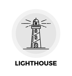 Lighthouse line icon vector