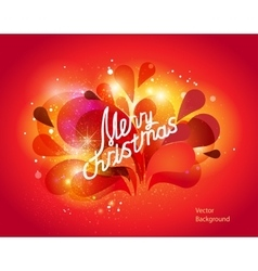 Modern wit christmas lettering vector image vector image
