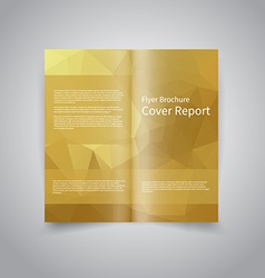Polygonal style document template vector