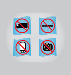 Prohibition sign icon vector