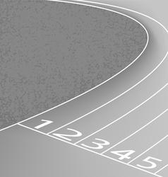 Racetrack scene gray color vector