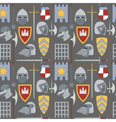 seamless medieval pattern number one vector image