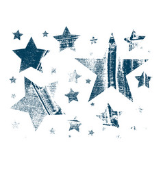 set of stars in grunge style vector image vector image