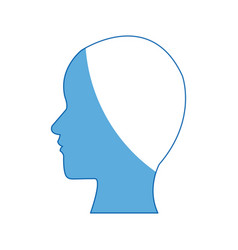 Silhouette people profile man character vector