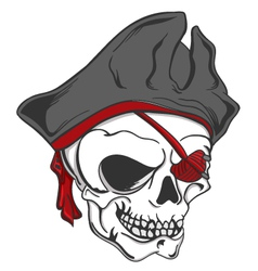 Skull pirate vector