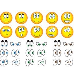 Smiley eyes vector image