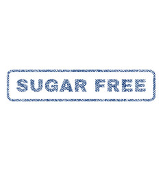 Sugar free textile stamp vector