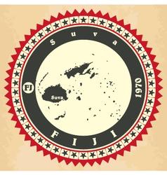 Vintage label-sticker cards of Fiji vector image vector image